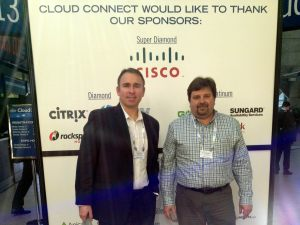 James Roten and Barry Bestpitch at Cloud Connect Tradeshow